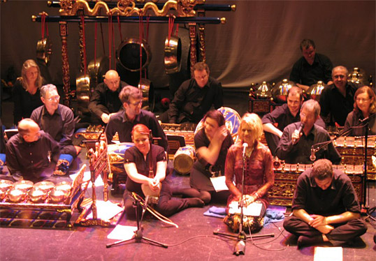 Linda Buckley, singing with Javanese Gamelan Ensemble, Galway